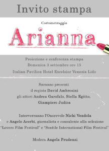 Arianna - Invito stampa
