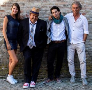 Juliana Foganholi ed Enrico Pinocci della Movie On Production con Chris Coppola e James Duval