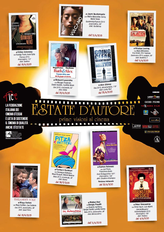 """Roma: """"Estate d'Autore. Prime visioni al cinema"""""""