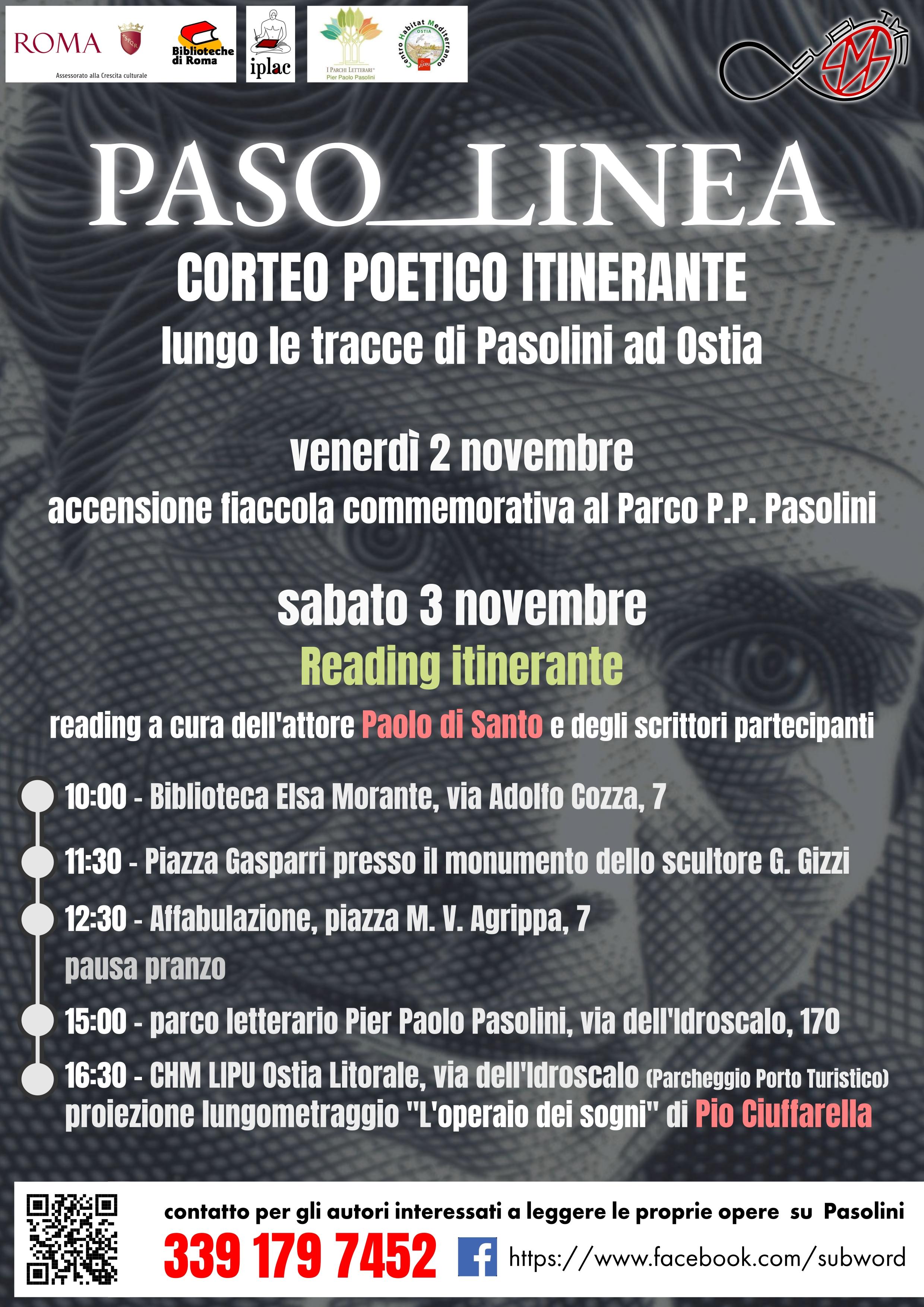 Corteo itinerante PASO-LINEA , lungo le tracce di Pasolini a Ostia.