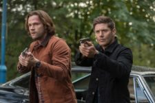 """Supernatural -- """"The Scorpion and the Frog"""" -- Image Number: SN1308a_0355b.jppg -- Pictured (L-R): Jared Padalecki as Sam and Jensen Ackles as Dean -- Photo: Jack Rowand/The CW -- © 2017 The CW Network, LLC All Rights Reserved."""