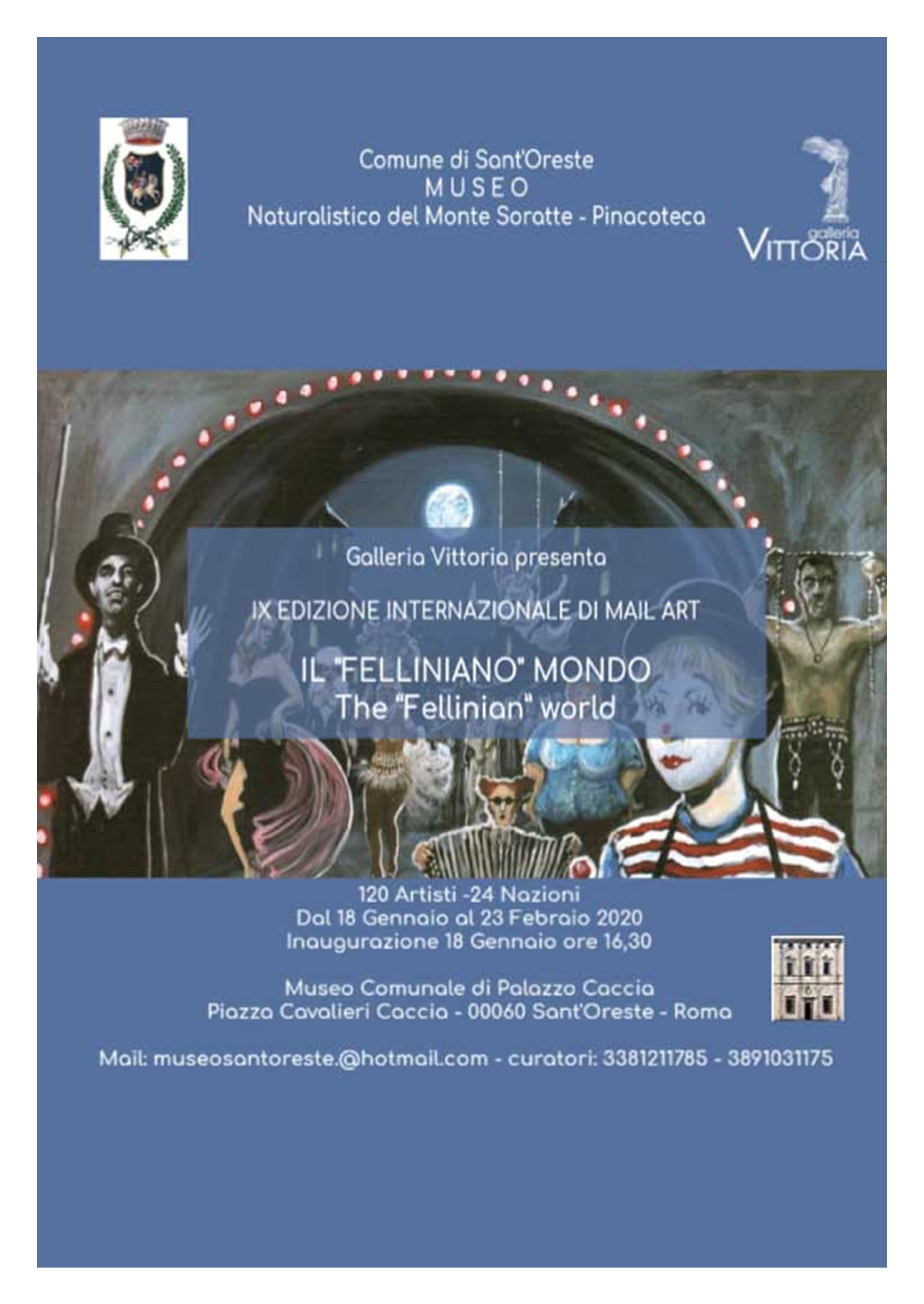 A Sant'Oreste 124 artisti di 24 nazioni ricordano Federico Fellini